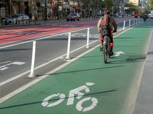 Bike lane in San Francisco
