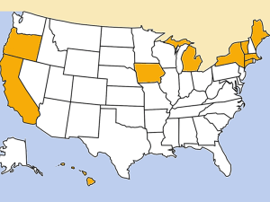 States with beverage container return laws
