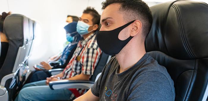 Masks onboard aircraft